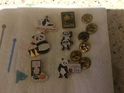 6, Panda Animal Enamel Pin Badges   C • 3.99£