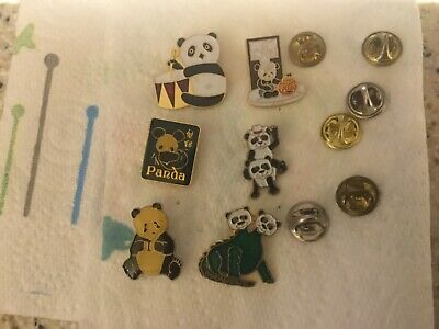 6, Panda Animal Enamel Pin Badges    • 3.99£