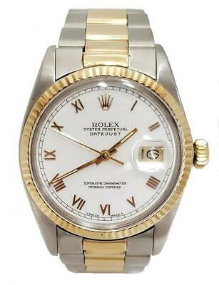 $ CDN7248.16 • Buy 36mm ROLEX DATEJUST TWO TONE OYSTER 18K/SS AUTOMATIC 1974 WATCH 16013
