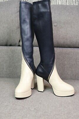 £350 • Buy Gucci New Boots Leather Platform  Size 38.5 UK 5.5