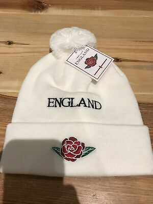 £3.99 • Buy Official England Rugby Beanie Hat -White Brand New