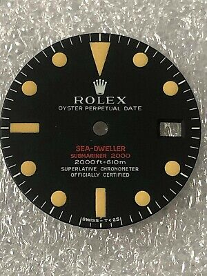 $ CDN243.42 • Buy Dial Matte Black 5 Line For Rolex Submariner 1665 Submariner Red (Refinished)