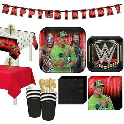 WWE Wrestling Party Supplies,Tableware & Decorations • 3.99£