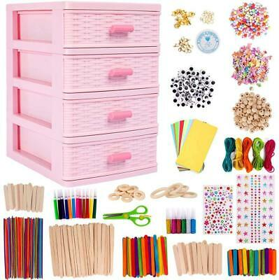 N&T NIETING Art Crafts For Kids With Drawer Container, 1300Pcs Colorful And Arts • 28.30£