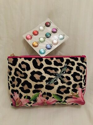 ESTEE LAUDER Soft Make Up Cosmetics Bag With Leopard Print And Sticker Brand NEW • 2.80£