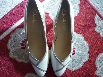 Stunning Court Shoes Size From Clarks. Leather. Worn Once(wedding) • 6£