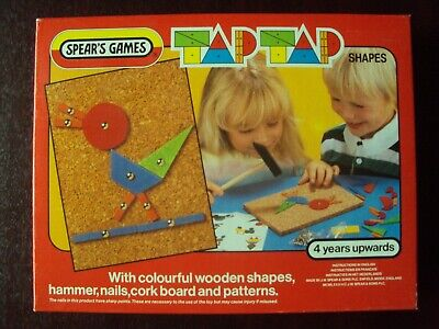Vintage Spears Games Tip Tap Shapes Childs Art Toy Vgc Complete • 13.99£