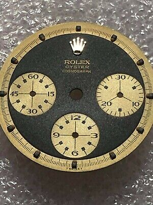 $ CDN462.51 • Buy Dial For Rolex Daytona Cosmograph 3 Line - Model 6263-6241 Gold (Refinished )