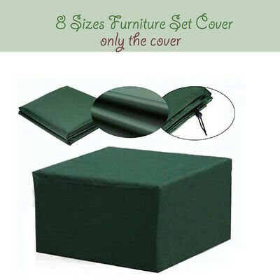 8 Size Patio Furniture Set Cover Green Waterproof Rattan Cube Rain Dust Cover • 16.37£