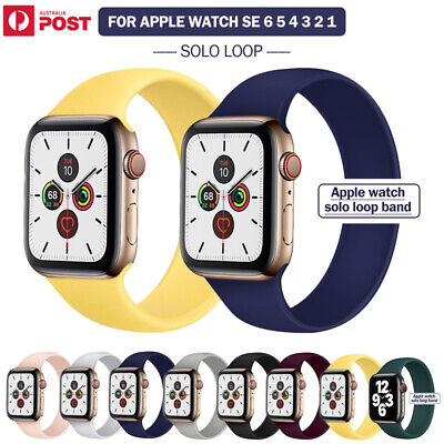 AU11.99 • Buy For Apple Watch Band Series SE 6 5 4 3 Solo Loop Silicone Elastic 40/44mm Strap