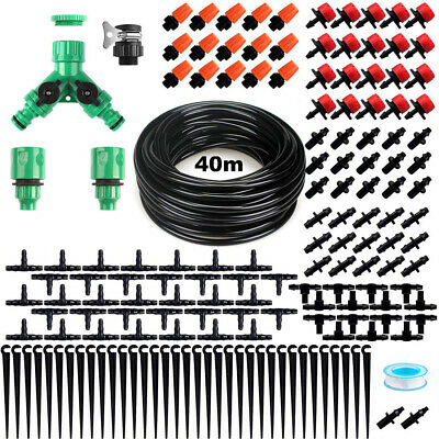 40M Automatic Drip Irrigation System Kit Plant Timer Self Watering Garden Hose • 16.99£