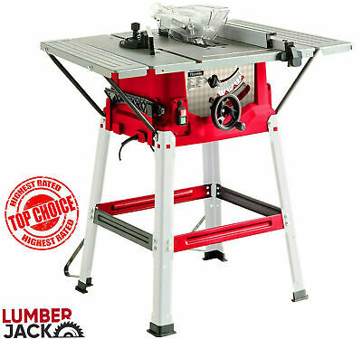 £149.99 • Buy Lumberjack 8  240v Bench Table Saw With Stand Side Extensions Fence & TCT Blade