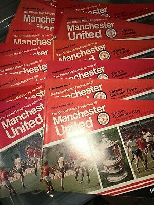 23 Different Domestic Manchester United HOME Programmes 1977/78 All With TOKENS • 8£