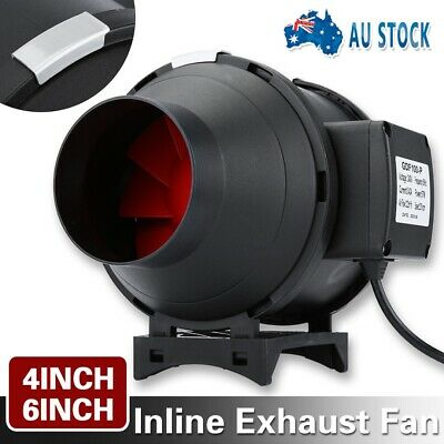AU75.99 • Buy New 4 Inch/6 Inch Inline Exhaust Fan Ventilation Tube Duct With Speed Controller