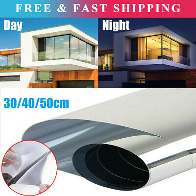 One Way Mirror Window Film Privacy Reflective Glass Sticker Effect Tint Decor UK • 5.69£