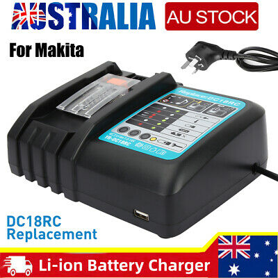AU33.89 • Buy Fast Rapid Charger 14.4V-18V Li-ion Battery Charger For Makita DC18RC BL1860 AU