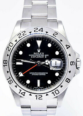 $ CDN9934.29 • Buy Rolex Explorer II Stainless Steel Black Dial Mens 40mm Automatic Watch K 16570