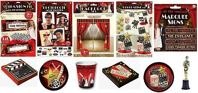 At The Movies Hollywood Party Decorations New Years Eve Table Decor Partyware • 3.49£