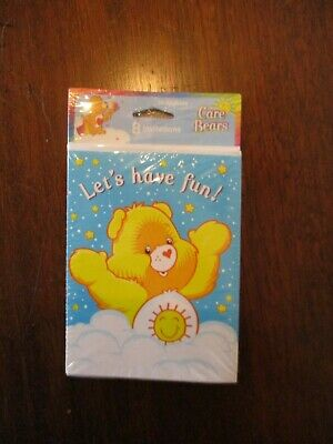 New Care Bears  -  8 Invitations / Envelopes - Party Supplies • 2.24£