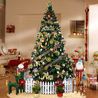 Christmas Tree Colorado Spruce 4ft 5ft 6ft Metal Stand Xmas Bushy Pine Branches • 19.99£