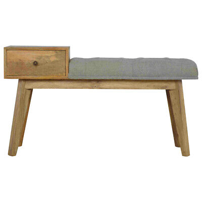 Hallway Bench, Grey Tweed Bench With 1 Drawer, Entry Seating Bench With Storage • 239£