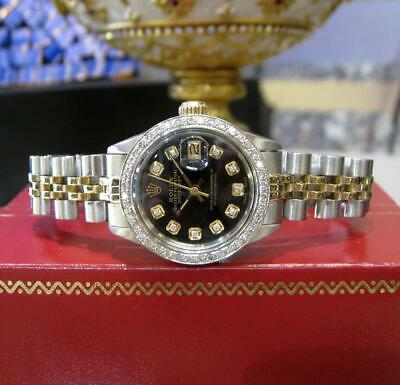 $ CDN8687.90 • Buy ROLEX  Ladies Vintage Oyster Perpetual Datejust Diamond Bezel And Hour Markers