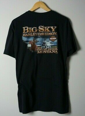 $ CDN19.69 • Buy Harley Davidson T-Shirt XL Big Sky Great Falls Montana Biker Motorcycles Vtg