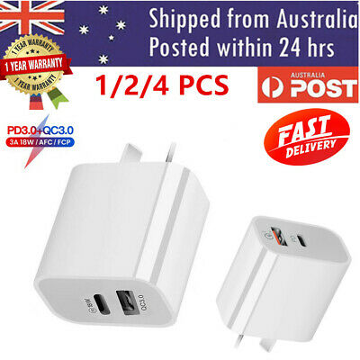 AU12.99 • Buy 18W USB-C Type C PD Fast Wall Charger AU Plug Adapter For IPhone 12 11 Android