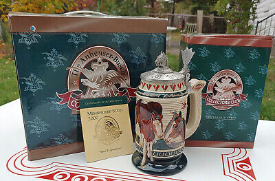 $ CDN22.78 • Buy 2000 Budweiser Lidded Stein CB14 Born To Greatness Members Only In The Box