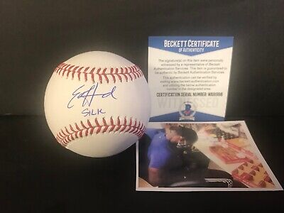 $ CDN59.45 • Buy Ed Howard Chicago Cubs Autographed Signed Baseball Beckett WITNESS  SILK  .