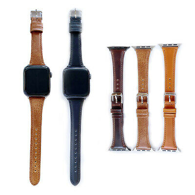 $ CDN19.08 • Buy Retro Genuine Leather Band For IWatch Apple Watch Strap Series 6 5 4 3 2 1 Belts