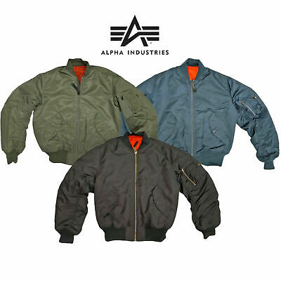 £78.49 • Buy MA1 Flight Padded Bomber Jacket Military Army Pilot Air Force Alpha Industries