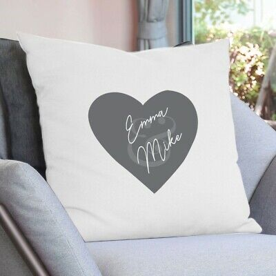 £9.95 • Buy Personalised Girlfriend Boy Love Heart Couple Cushion Pillow Cover Custom Gift