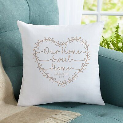 £9.95 • Buy Personalised Our Sweet Home Family Cushion Pillow Cover Custom Gift Present Love