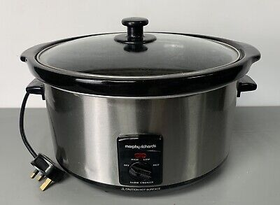 MORPHY RICHARDS Model 461004 Slow Cooker - Silver • 12.74£