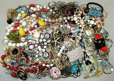 $ CDN26.13 • Buy Jewelry Lot LBS Vintage Now Junk Drawer Rhinestone Craft Unsearched Untested 2E