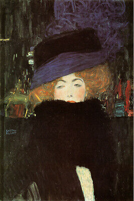 $ CDN16.57 • Buy Gustav Klimt Fine Art Poster Print Lady With Hat And Feather Boa