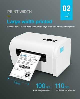 White USB Bluetooth Thermal Barcode Printer Label Printing Machine For Android • 93.79£