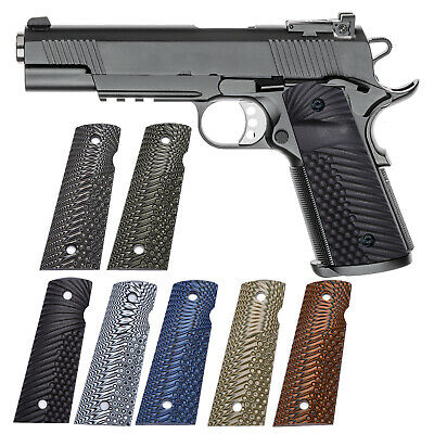 $25.99 • Buy G10 Grips For Full Size 1911 Magwell Grip Ambi Safety Cut OPS Eagle Wing Texture