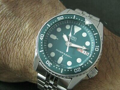 $ CDN320.13 • Buy SEIKO SKX013 Mod KERMIT HULK Water Proof Tested Junior / Medium Size Watch