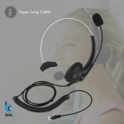 £12.99 • Buy Noise Cancelling Headphone Microphone Headset  Call Centre Office Telephone