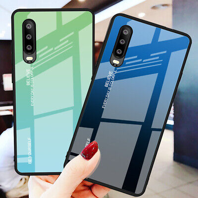 Gradient Tempered Glass Case For Huawei P20 P30 P40 Lite Mate 30 Pro Phone Cover • 3.75£