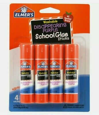 Brand New Elmer's Washable Disappearing Purple School Glue Sticks - Pack Of 4 • 4.99£