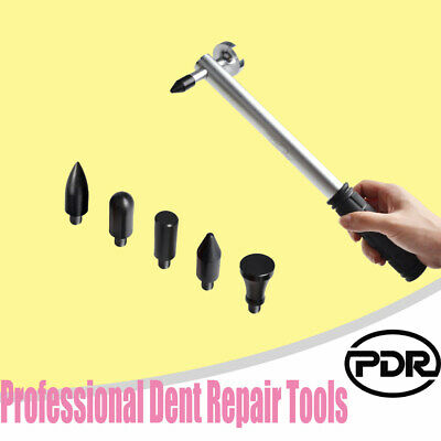 Tap Down Ding Hammer W/5 Heads Set Paintless PDR Tools Car Paintless Dent Repair • 11.78£