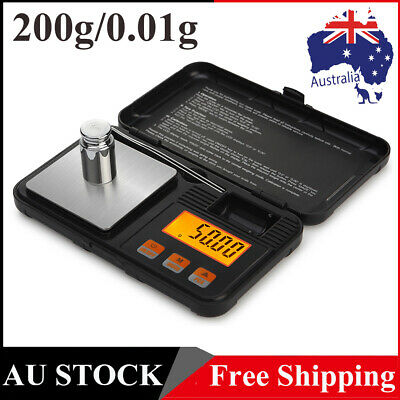 AU18.29 • Buy 200g*0.01g Mini High Precision Jewellery Scale Electronic Digital Milligram Kit