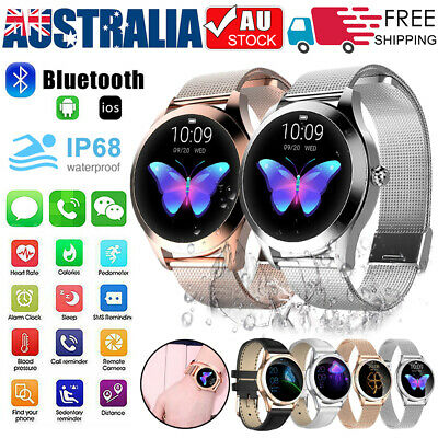 AU67.59 • Buy Women Waterproof Bluetooth Smart Watch Phone Mate For IOS Android Christmas Gift