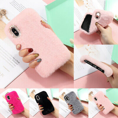 £5.35 • Buy Case For IPhone 12 Pro XS XR 11 8 7 Soft Warm Plush Fluffy Comfy Faux Fur Cover