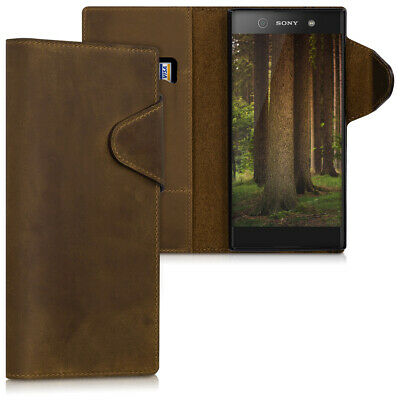 $ CDN31.99 • Buy Genuine Leather Wallet Case For Sony Xperia XA1 Ultra With Stand
