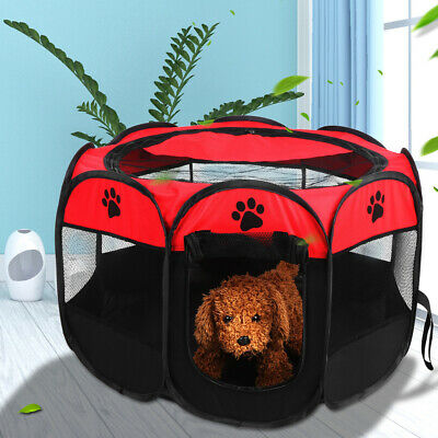 Pet Dog Cat Cage Tent Mesh Puppy Kitten Sleeping Bed Mat Small Playing House • 10.98£