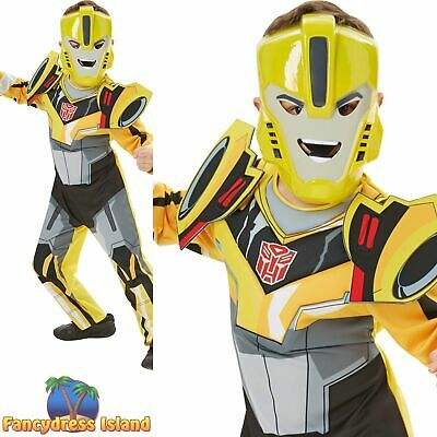 Rubies Official Transformers Bumble Bee Deluxe Boys Fancy Dress Costume • 23.89£
